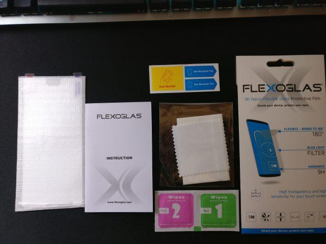 unboxing vetro temperato flexoglas